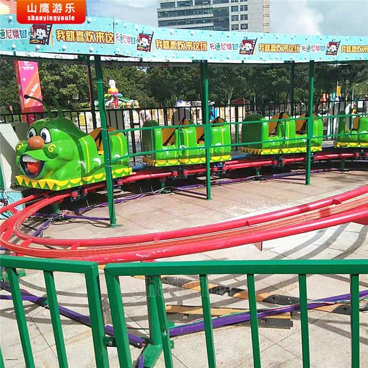 青虫滑车儿童游乐设备 果虫滑车设备厂家 山鹰游乐