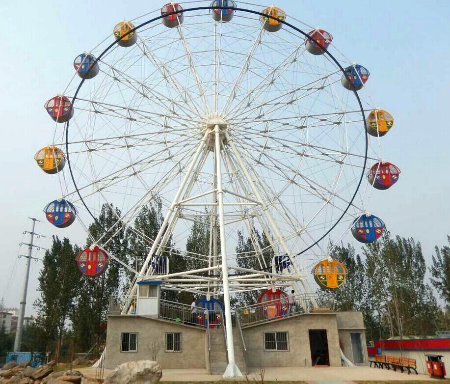 摩天轮成了公园必备的大型游乐设备-郑州山鹰游乐