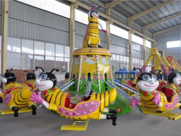 新型自控飞机类儿童游乐设备自控小蜜蜂,旋转蜜蜂