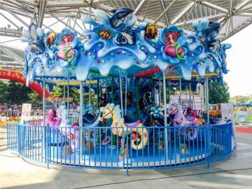 海洋转马儿童游乐设备价格便宜-厂家直供