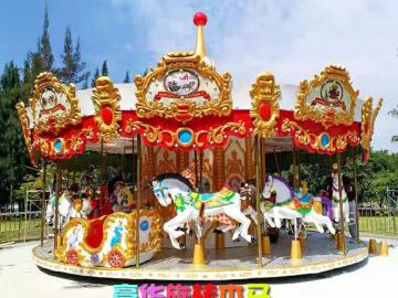 24座豪华转马生产厂家-赚钱的游乐项目-儿童游乐设备